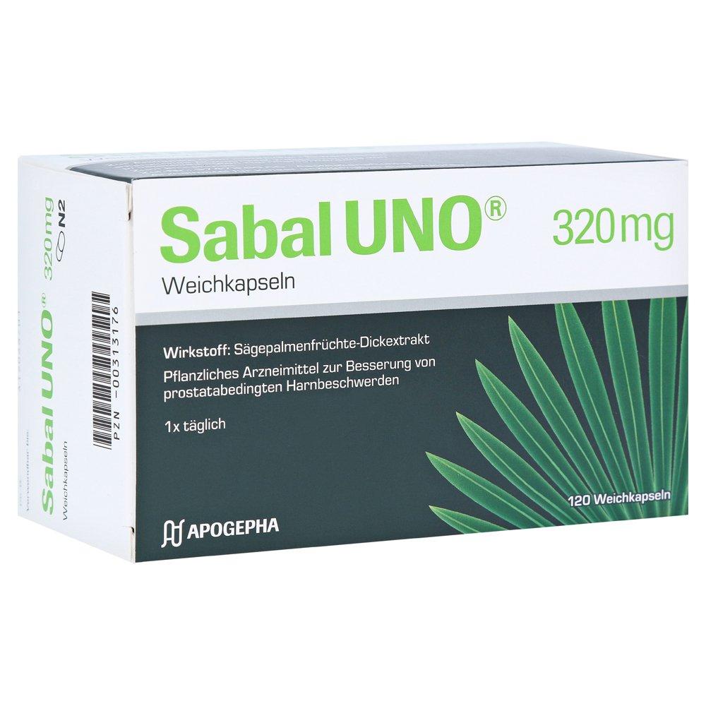 SabalUNO® 320 mg Weichkapseln werden zur Behandlung einer gutartigen Prostatavergrößerung vorgeschlagen.
