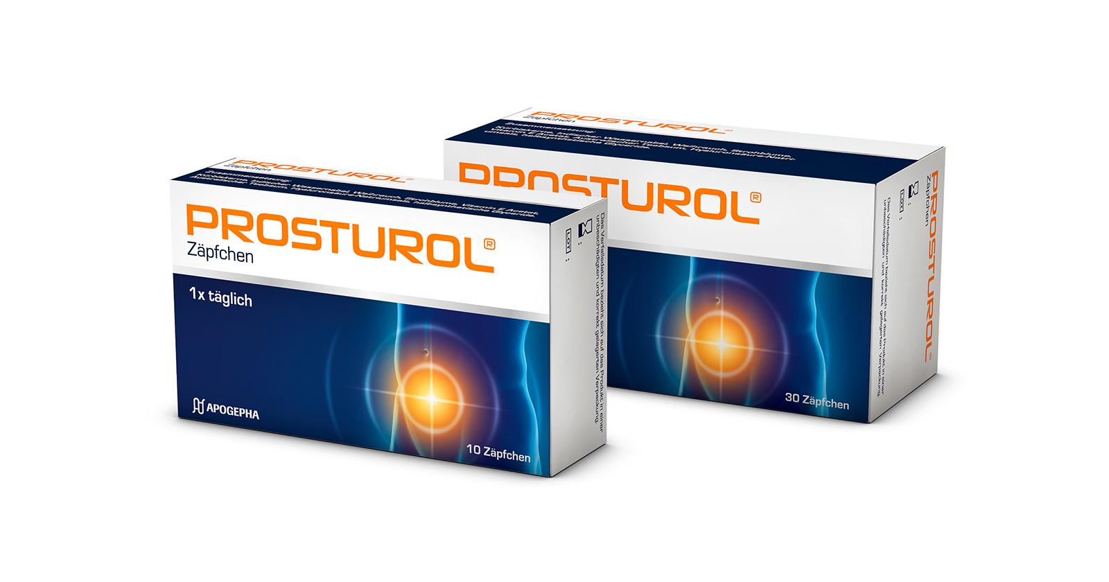 Packshots Prosturol® Zäpfchen