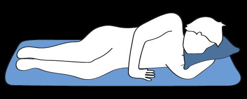 Abbildung von Mann der Beckenbodenübung macht, zur Hilfe bei ständigem Harndrang.